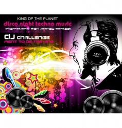 Dj music flyer vector image
