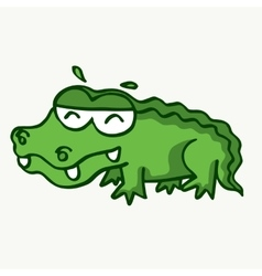 Funny crocodile design for kids vector image