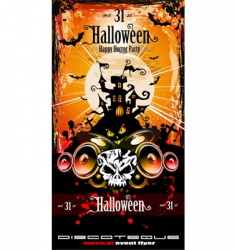 Halloween party disco flyer vector