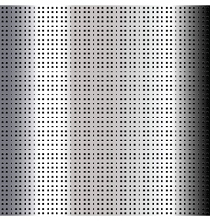 Metallic perforated chromium sheet vector image
