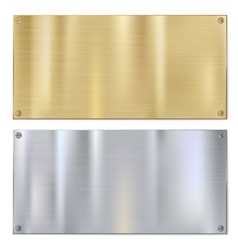 Shiny brushed metal vector image