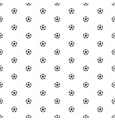 soccer ball seamless pattern vector image