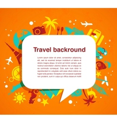 Travel background with speech bubble vector image vector image