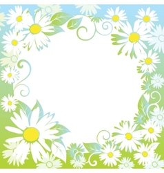 funny spring floral border vector image vector image
