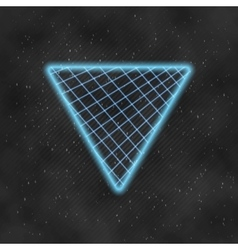 Neon Style Triangle Techno Background Outer Space vector image