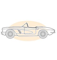 Retro sports car - vintage convertible cabrio vector