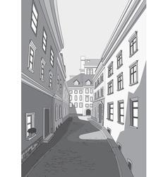 Street of city vector image