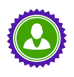 user stamp seal flat icon vector image vector image