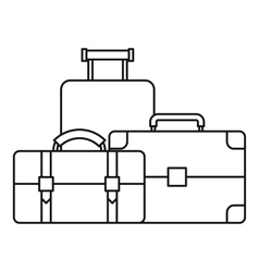 Baggage icon outline style vector image vector image