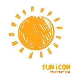 Drawing of sun symbol icon vector image