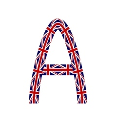 Letter A made from United Kingdom flags vector image vector image