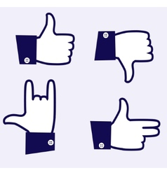 Likes icons vector image vector image
