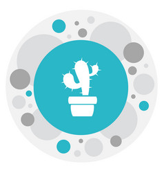 Of gardening symbol on cactus vector