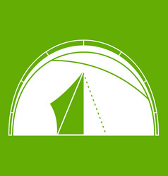 dome tent icon green vector image