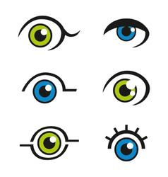 Eye icons logos vector
