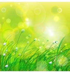 Green beams background vector image