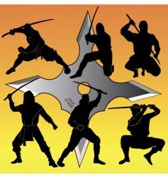 group of Ninja vector image