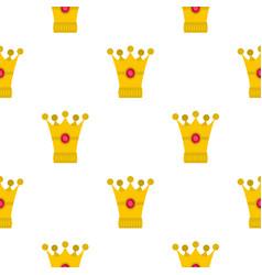 Medieval crown pattern flat vector