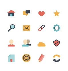 Web Icons Flat vector image vector image