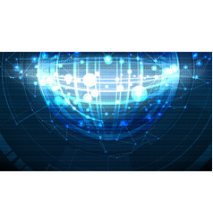 Abstract high technological global cell background vector