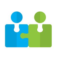 abstract teamwork logo business concept vector image