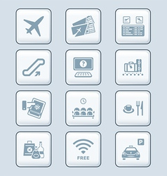 Airport icons - TECH series vector image