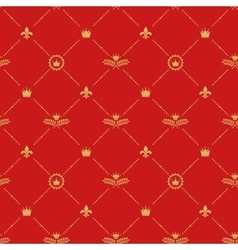 Antique royal background pattern vector image