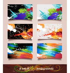 Art backgrounds vector