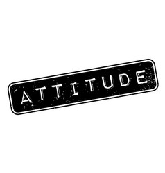 attitude rubber stamp vector image
