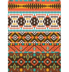 Aztec colorful geometric seamless pattern vector image vector image