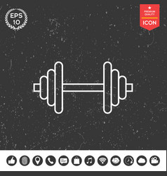 barbell line icon vector image vector image