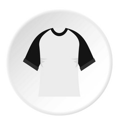 Baseball shirt icon circle vector