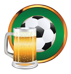 Beer and Soccer Ball4 vector image