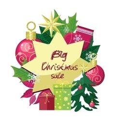 Big Christmas Sale Flat Style Concept vector