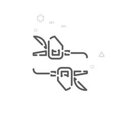 Bike trigger shifters line icon symbol pictograph vector