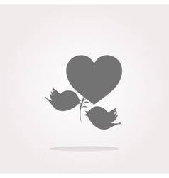 Bird family web icons web app button vector image