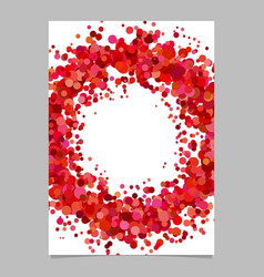 Blank abstract dispersed confetti dot flyer vector