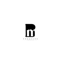 Bm logo simple initial design template vector