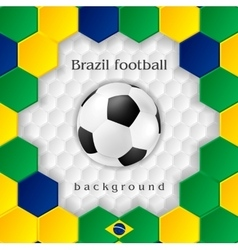 Bright soccer background with ball Brazilian vector