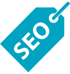 Business search engine optimization tag icon vector