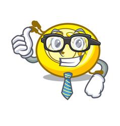 Businessman cd player character cartoon vector