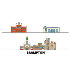 canada brampton flat landmarks vector image