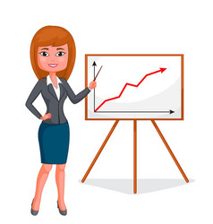 cartoon business woman vector image