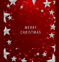 christmas and new years red background with frame vector image