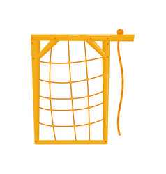 Climbing net kids playground element vector