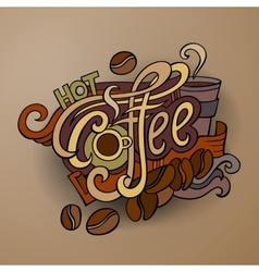 coffee hand lettering vector image vector image