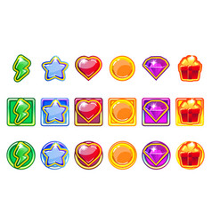 colored game app icons set for ui vector image