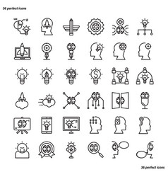 creative and design outline icons perfect pixel vector image