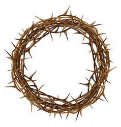 crown thorns color artistic graphic drawing vector image