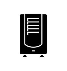 Dehumidifier icon black sign vector